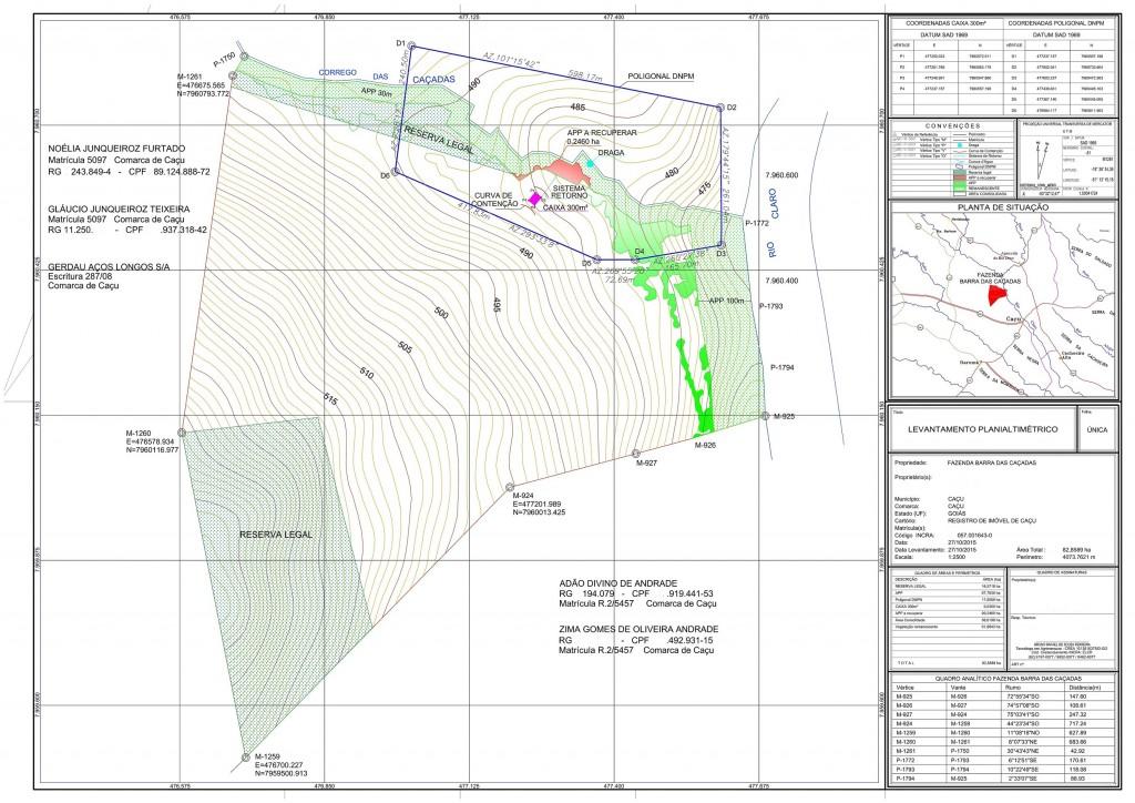 Mapa extração de areia SECIMA GO
